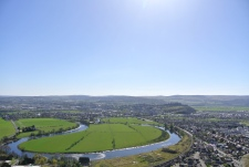 View of Stirling. Castle on the left.
